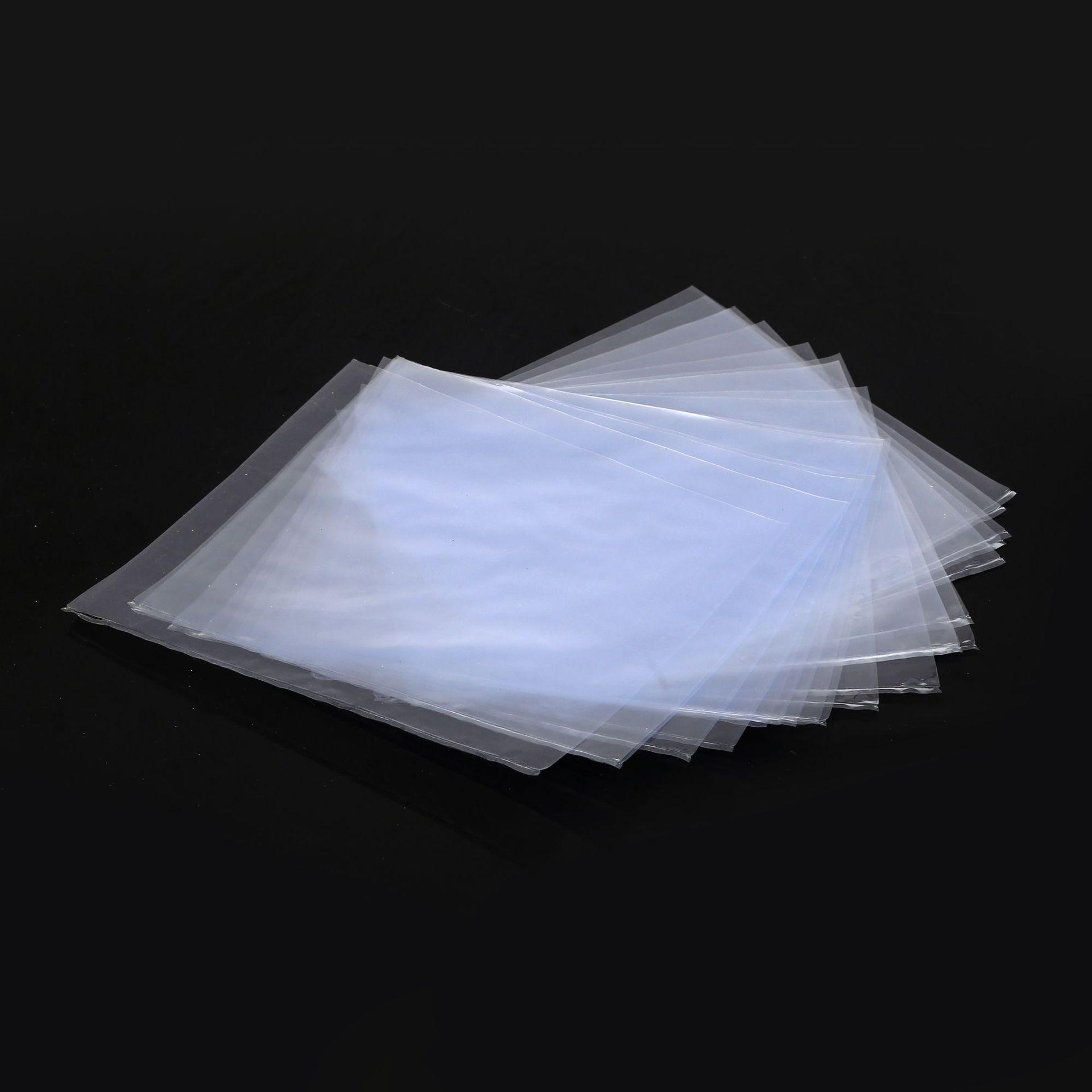 直销无毒环保透明塑料收缩膜袋热缩圆封袋订做圆底热切封口弧形袋
