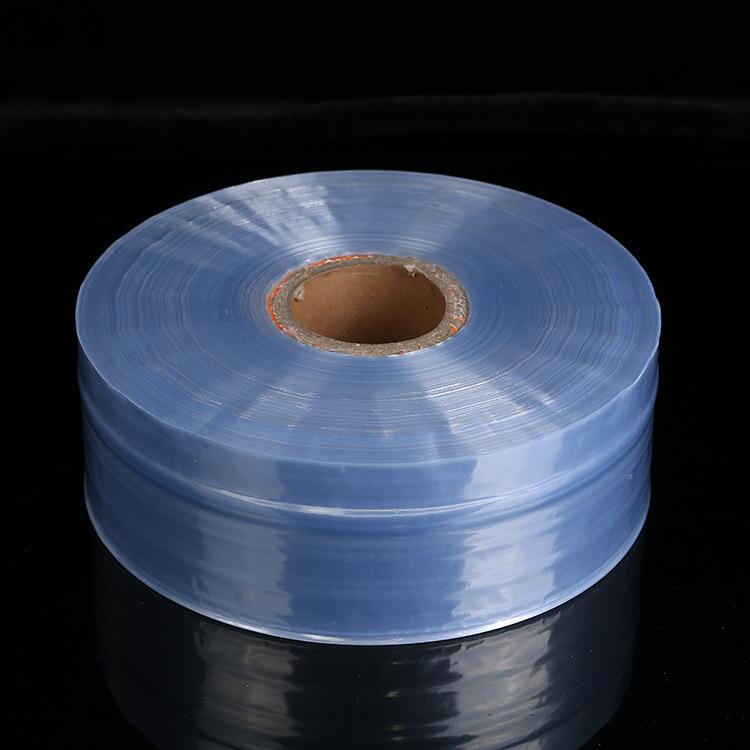 厂家直销 PVC防潮防尘热收缩膜 化妆品盒子收缩膜定做任意规格