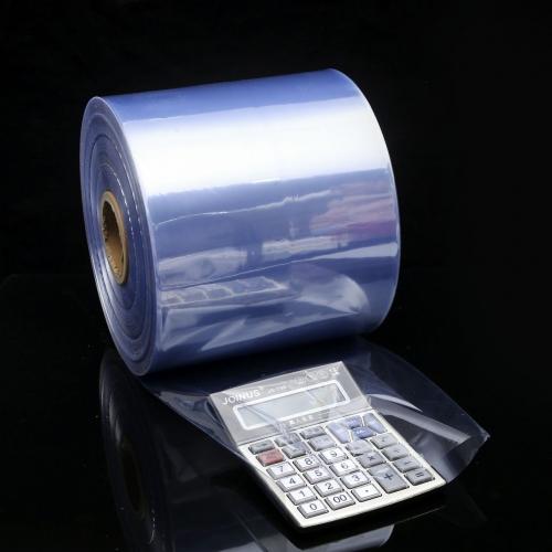 厂家直销 PVC热收缩膜 环保无毒收缩袋 蓝光吸塑筒装塑封膜 定制